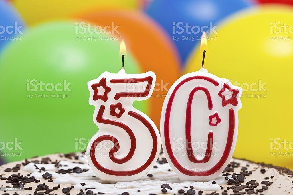 Cake for 50st birthday stock photo
