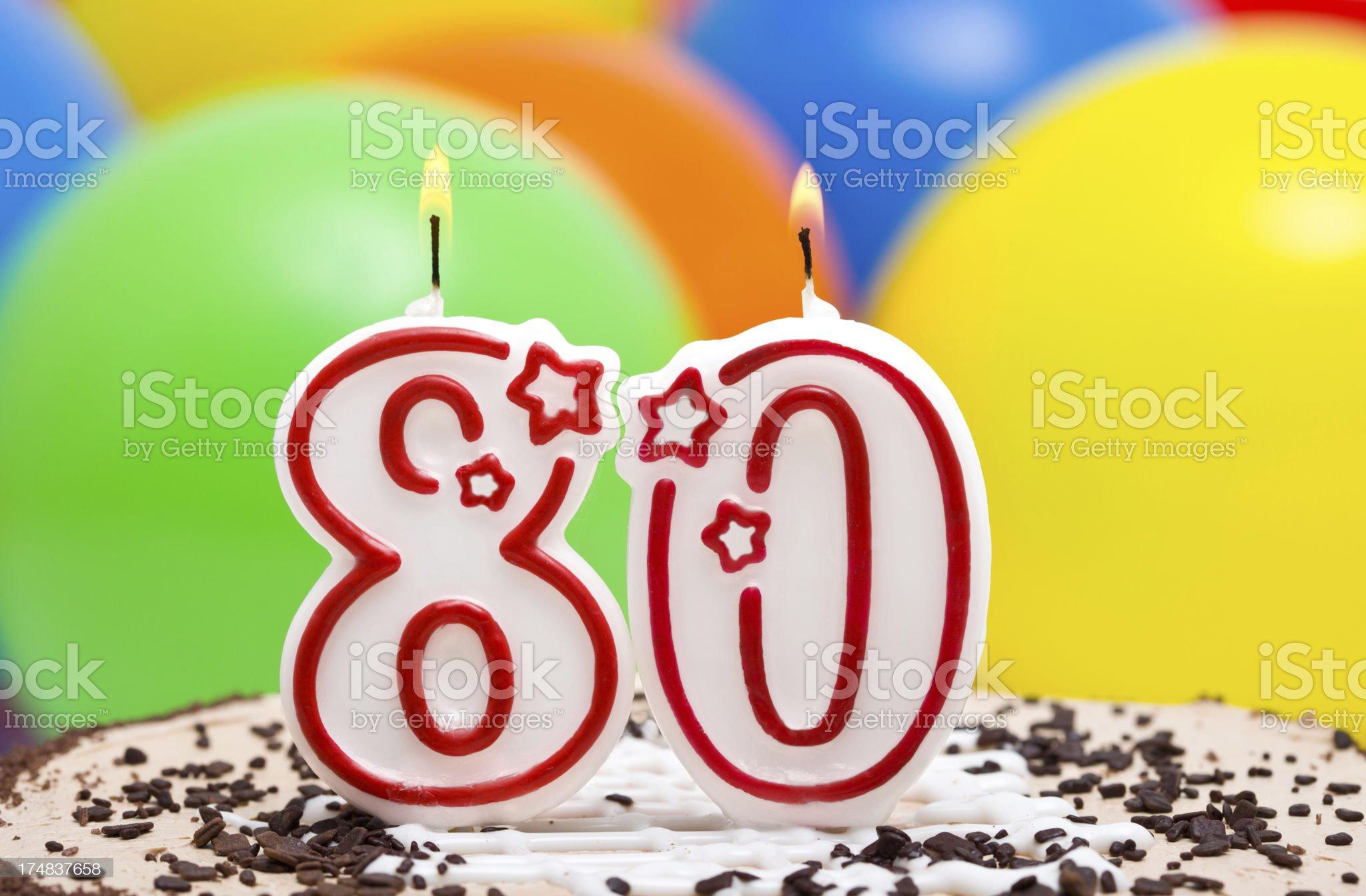 Cake for 80st birthday royalty-free stock photo