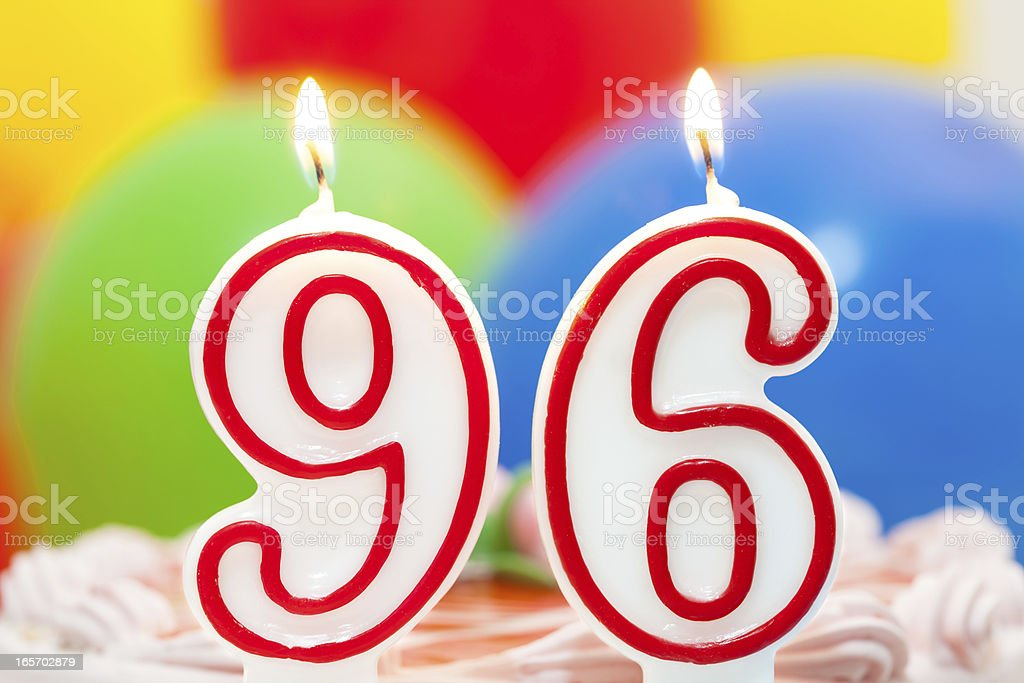 Cake for 96th birthday royalty-free stock photo