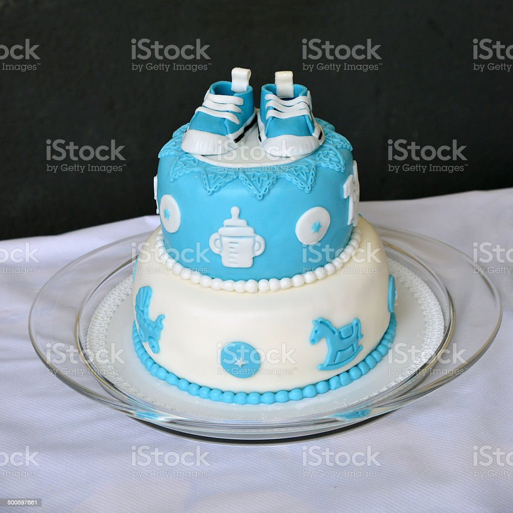 cake for a birth royalty-free stock photo