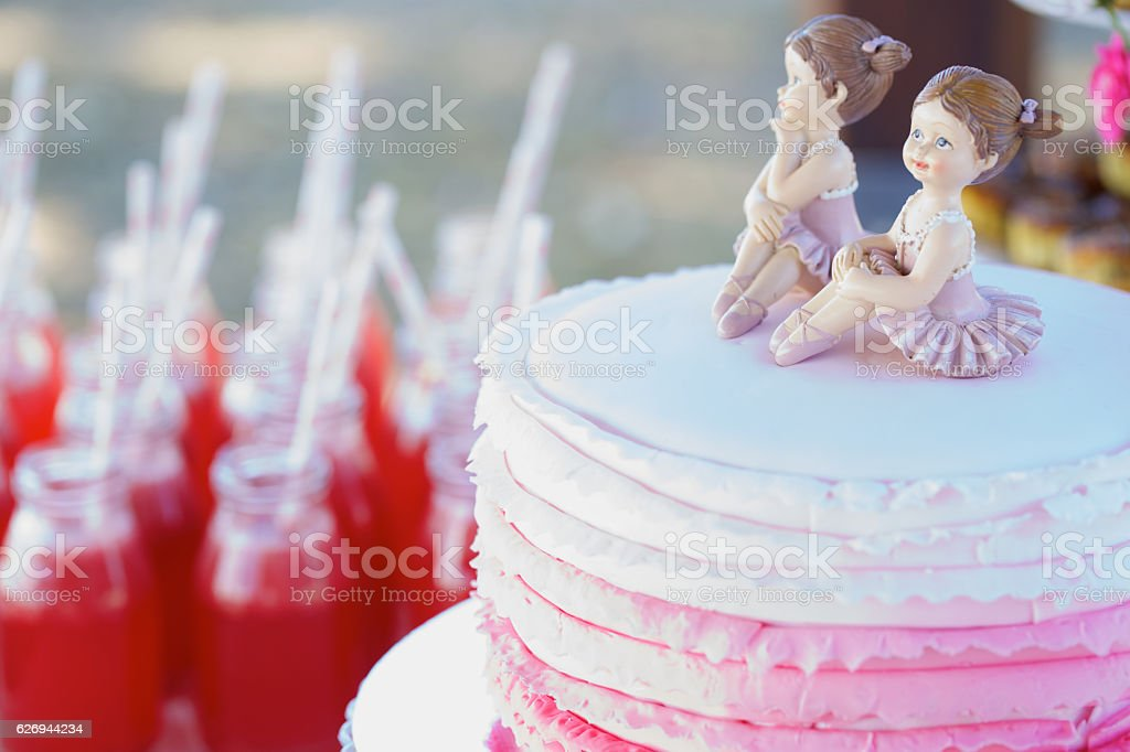 Cake for Girls Party stock photo