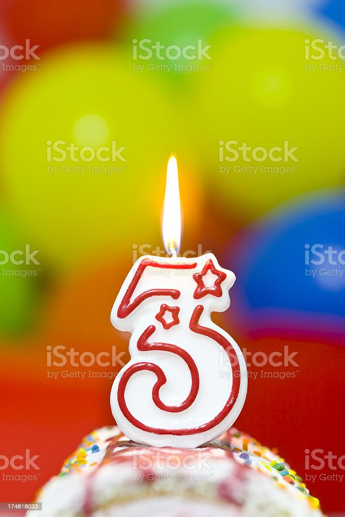 Cake for third birthday royalty-free stock photo