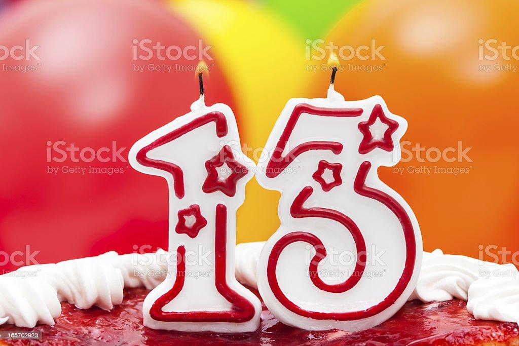 Cake for thirteenth birthday stock photo