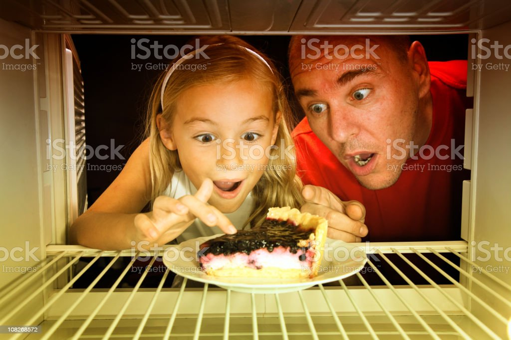 Cake in the fridge royalty-free stock photo