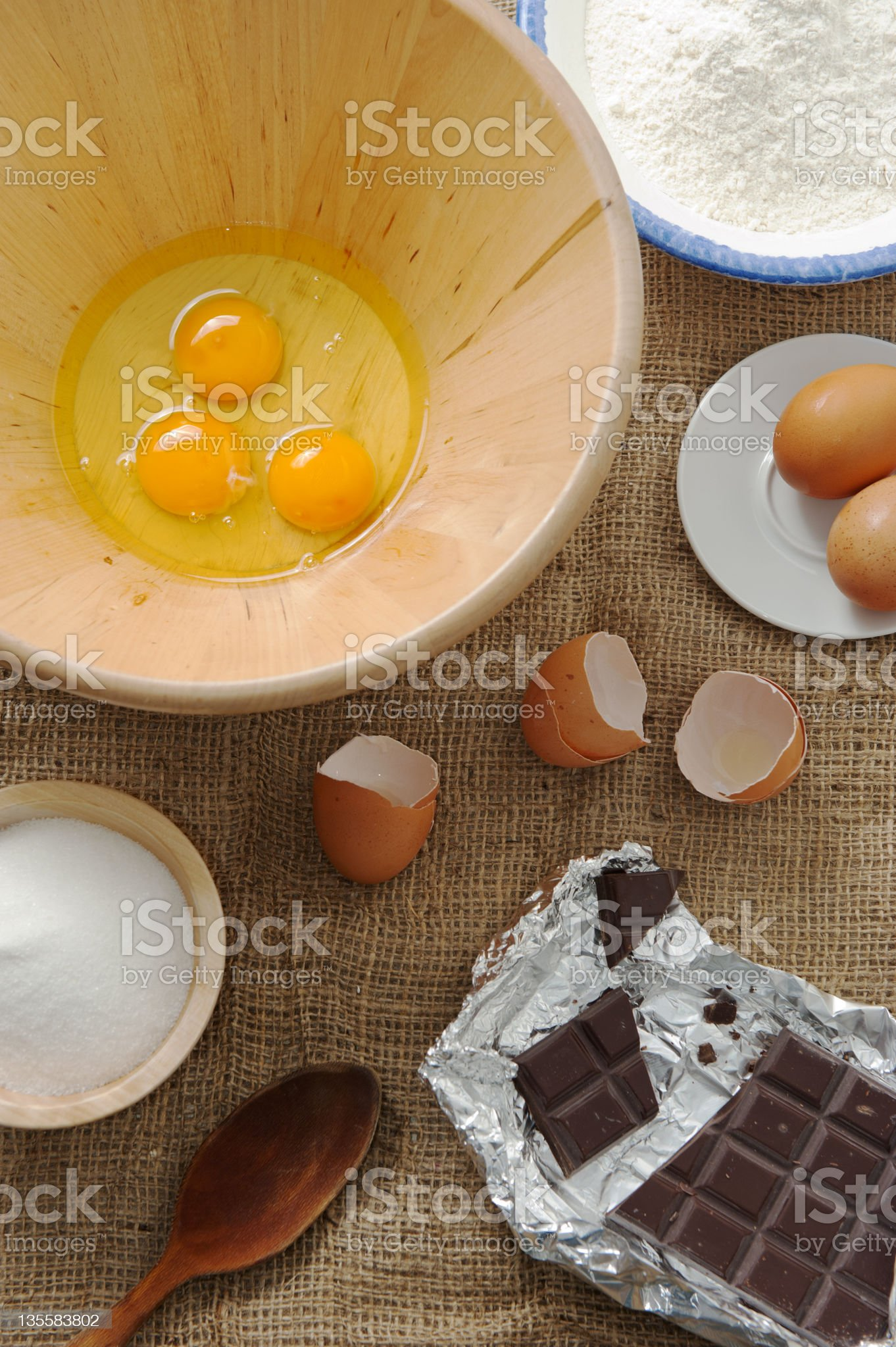 Cake ingredients royalty-free stock photo