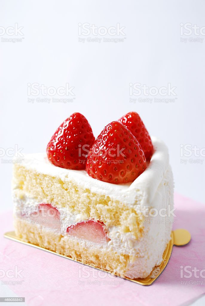 Cake of a pretty strawberry stock photo