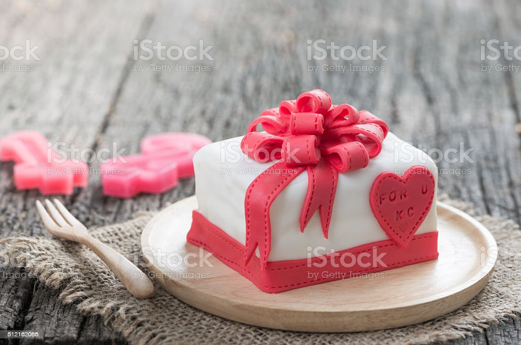 Cake Of Ribbon Box stock photo