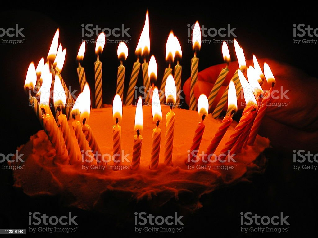 Cake on Fire royalty-free stock photo
