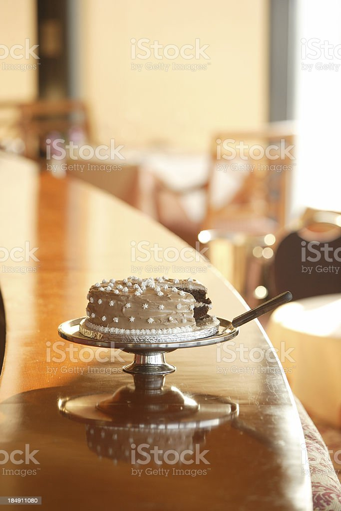 Cake on the counter stock photo