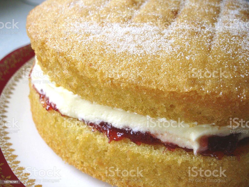 Cake (Victoria Sandwich) royalty-free stock photo