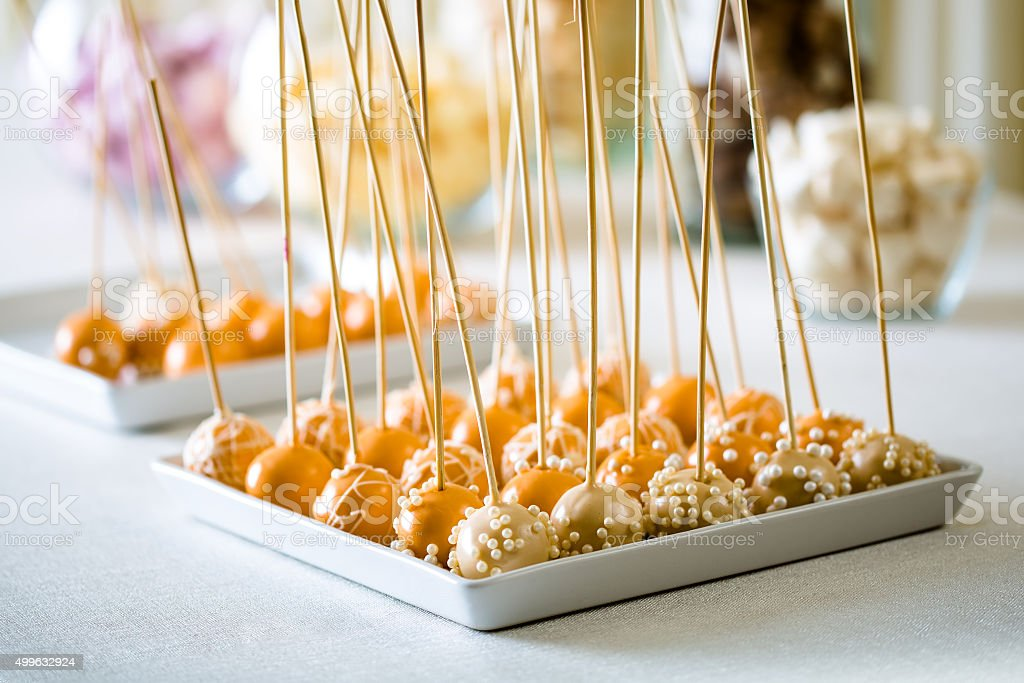 Cake pop is a - cake styled as a lollipop stock photo