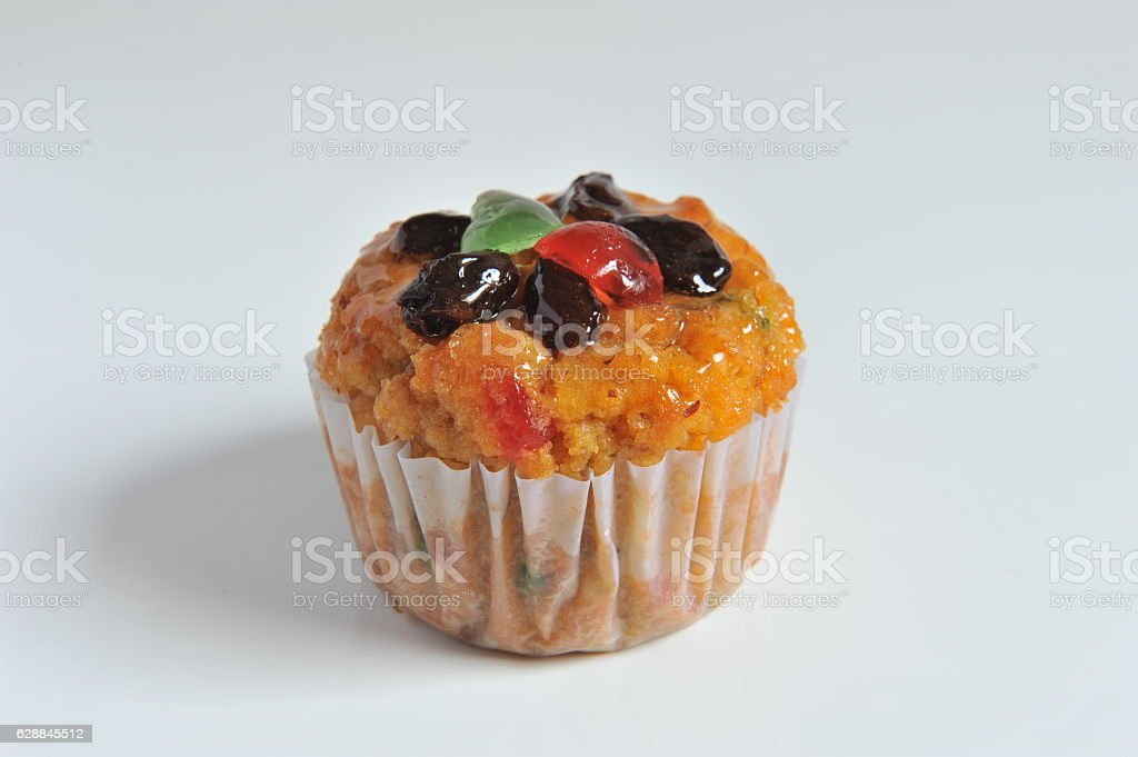 cake pudding in isolate white background stock photo