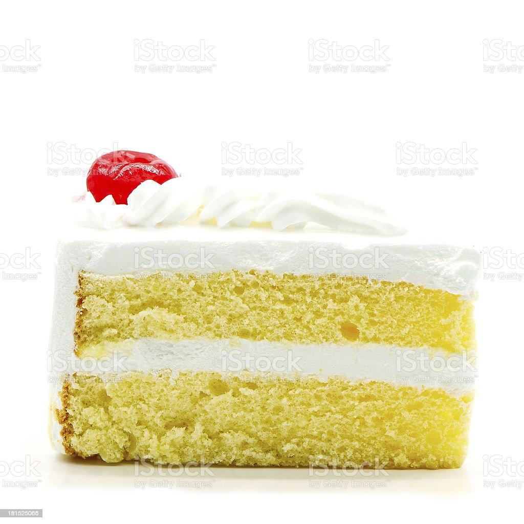 cake slice isolated stock photo