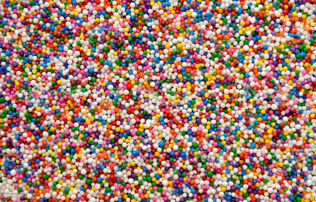 Cake sprinkles stock photo