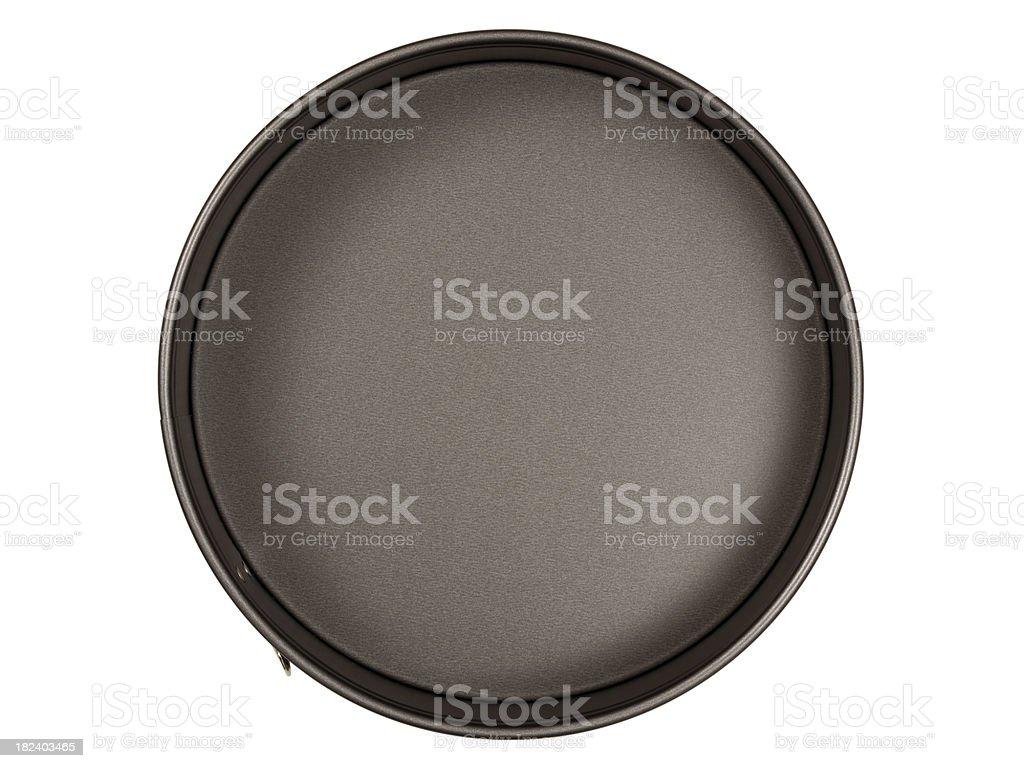 Cake tin on white stock photo