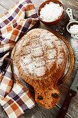 Cake 'Turtle' with sugar powder