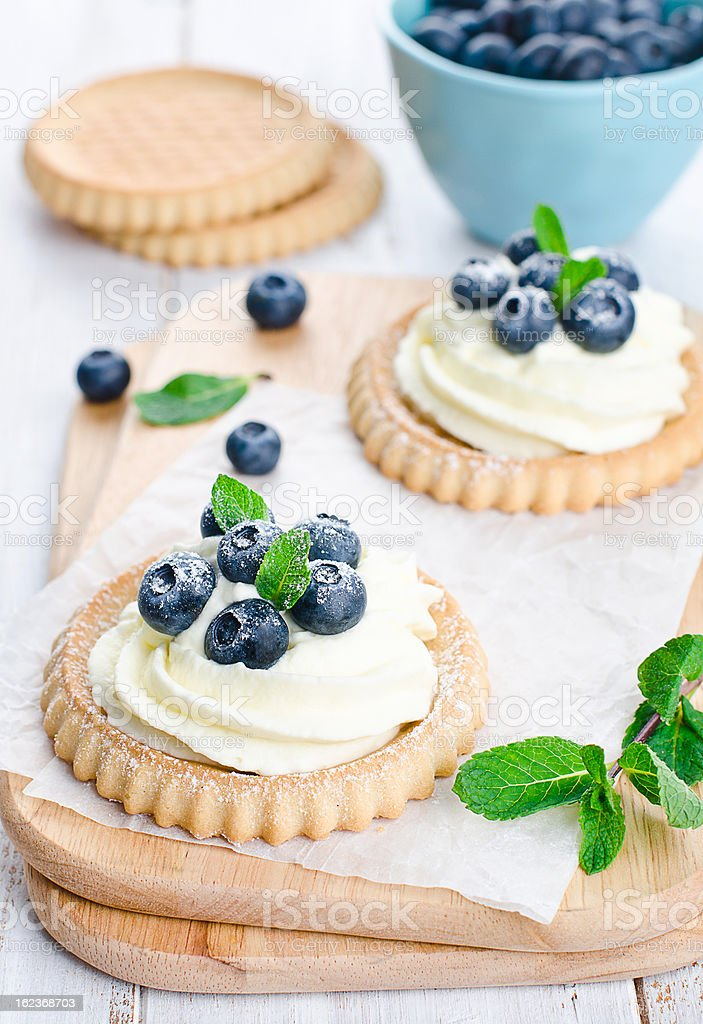 Cake with bilberries royalty-free stock photo