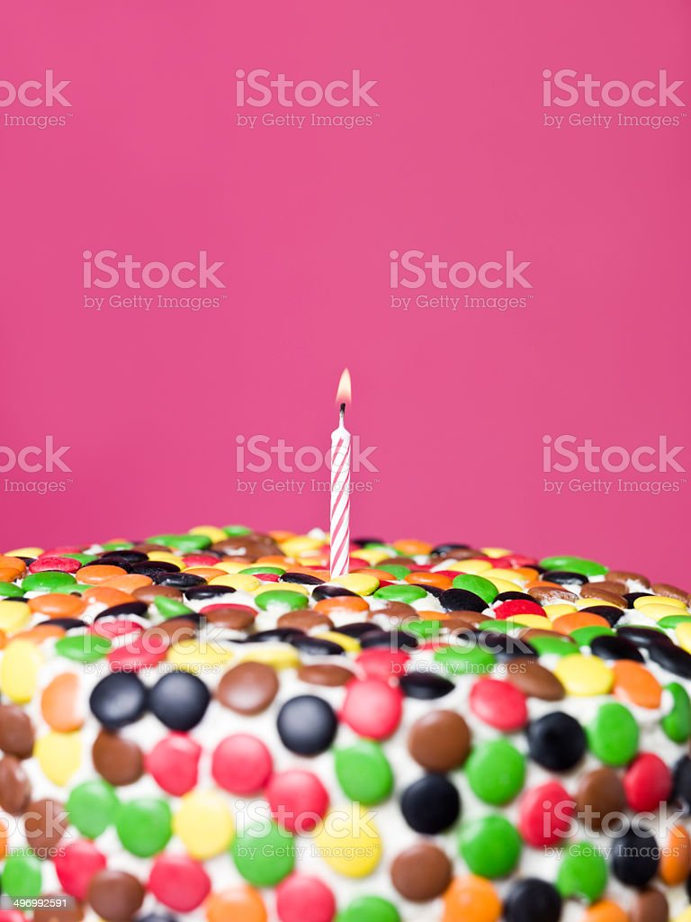 Cake with candy stock photo