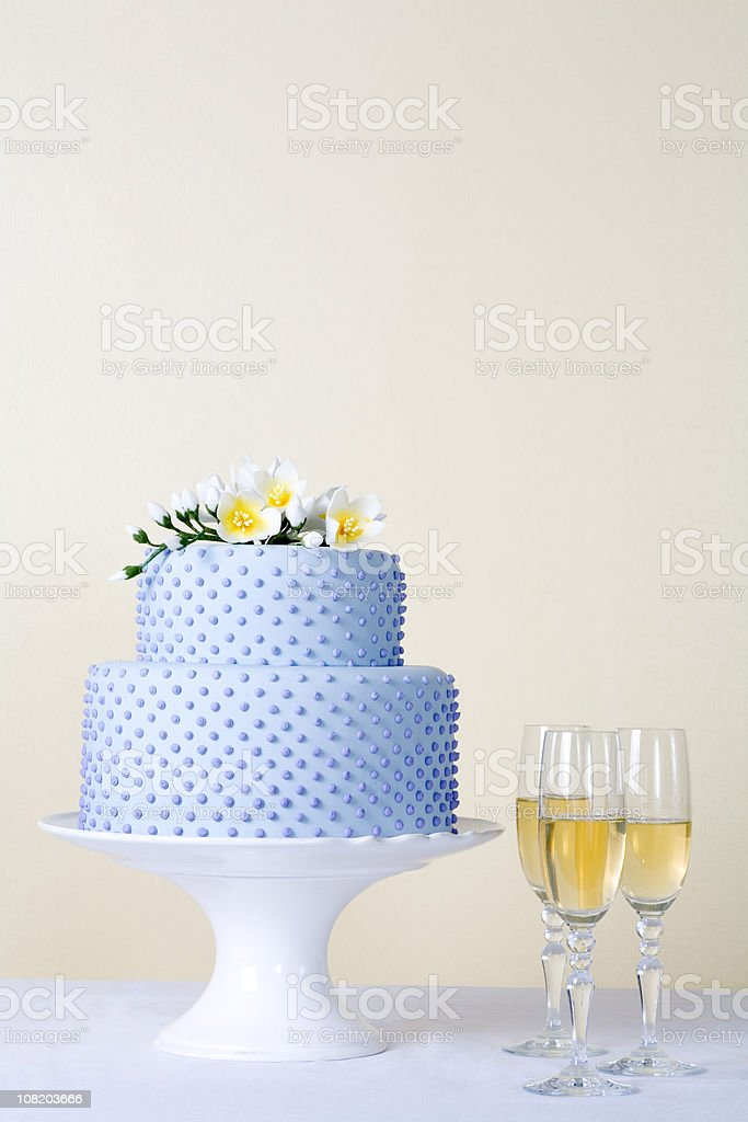cake with champagne royalty-free stock photo