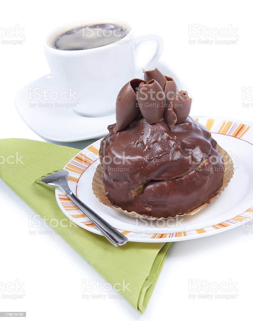 Cake with coffee royalty-free stock photo