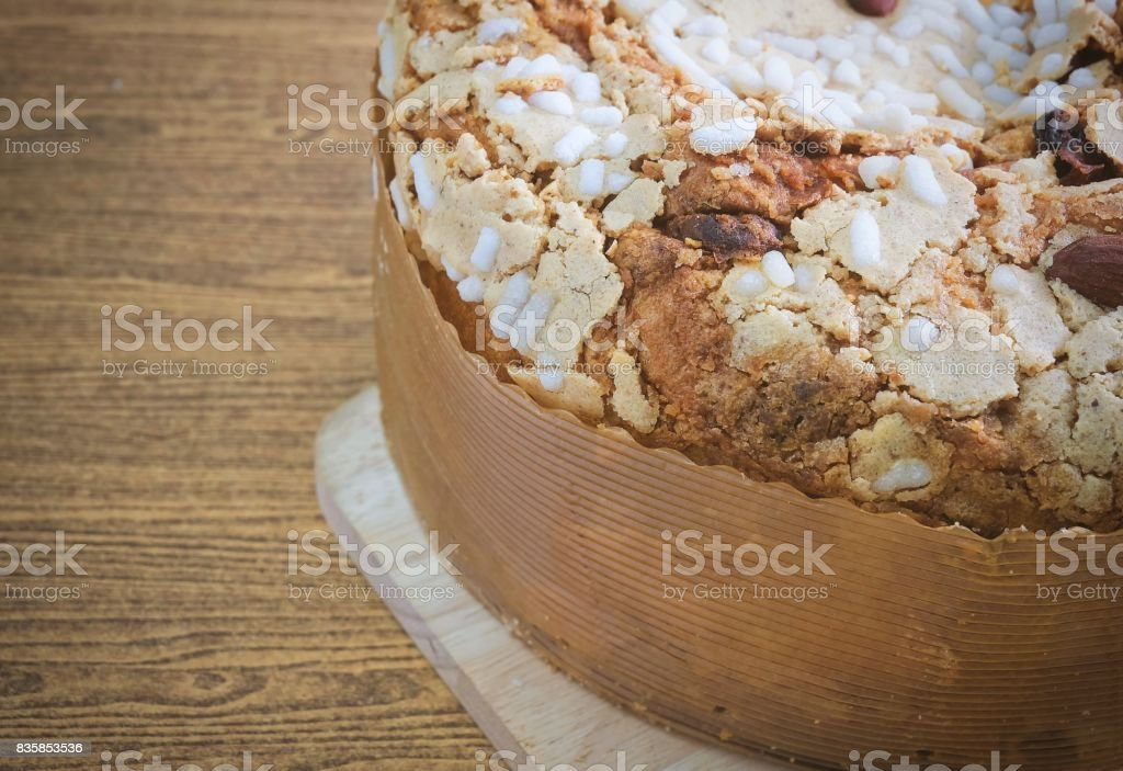 Cake with Dried Fruits and Almond Nut stock photo
