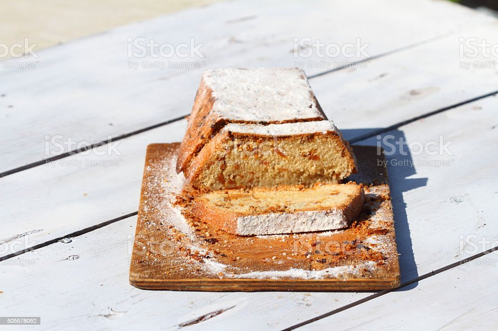 cake with impregnations stock photo