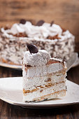 Cake with protein-curd cream