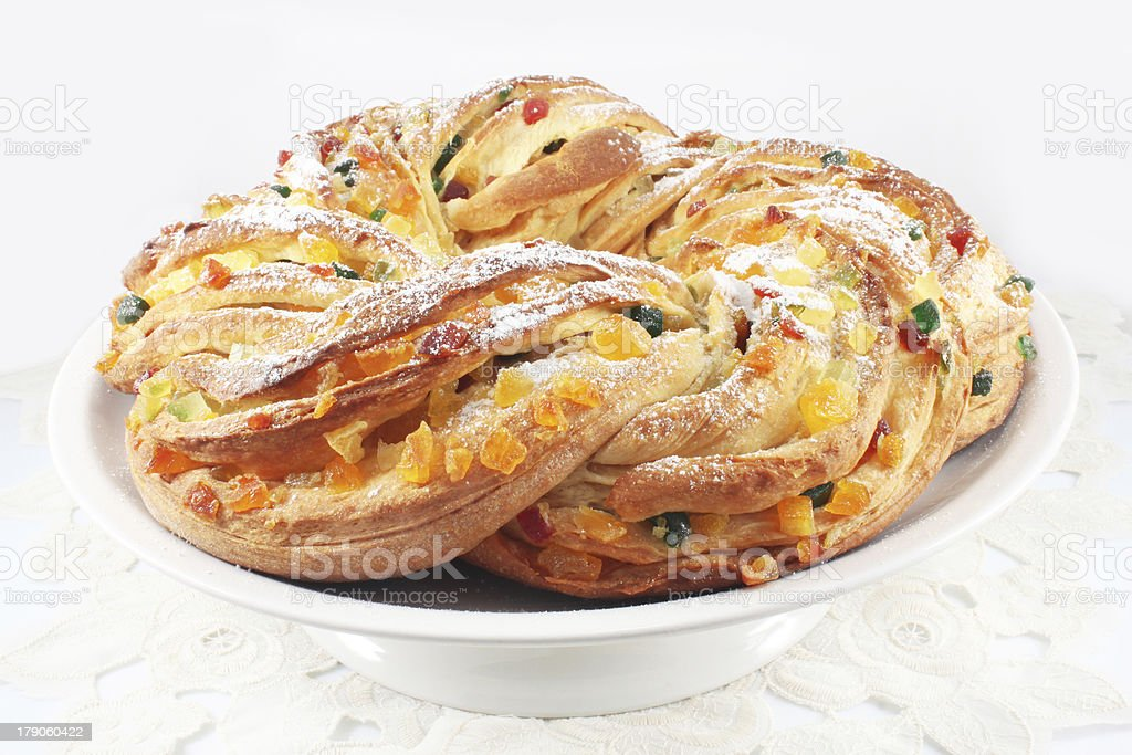 Cake with raisin and candied orange royalty-free stock photo