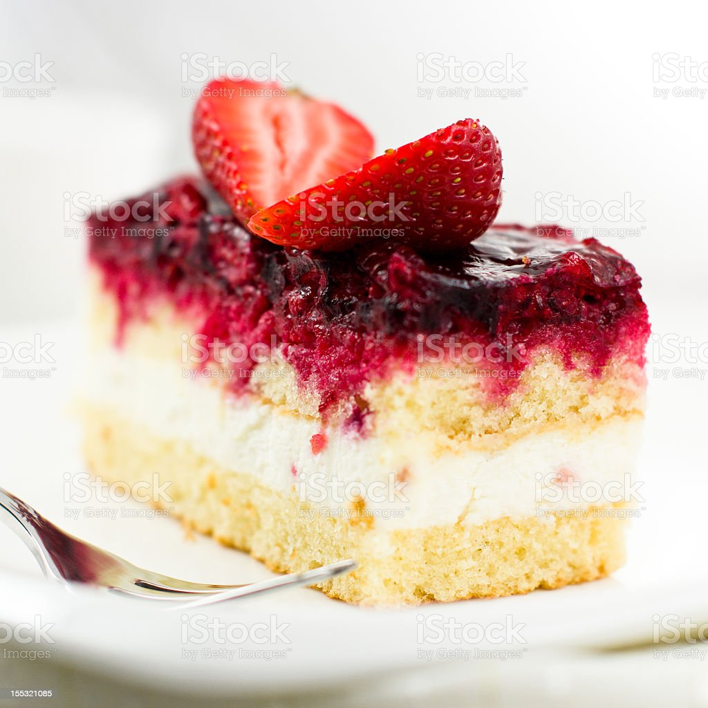 Cake with red fruits royalty-free stock photo