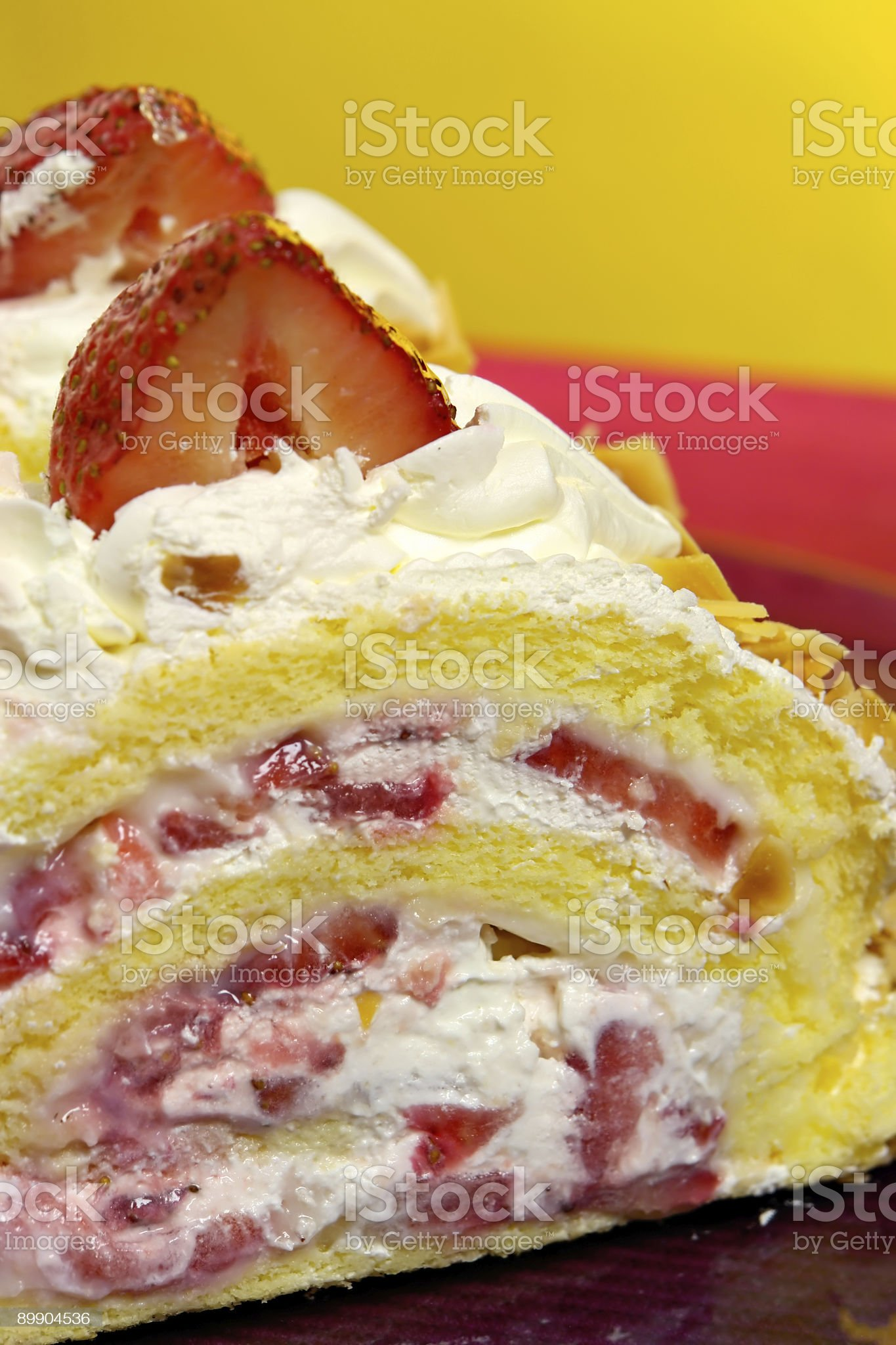 Cake with strawberrys royalty-free stock photo