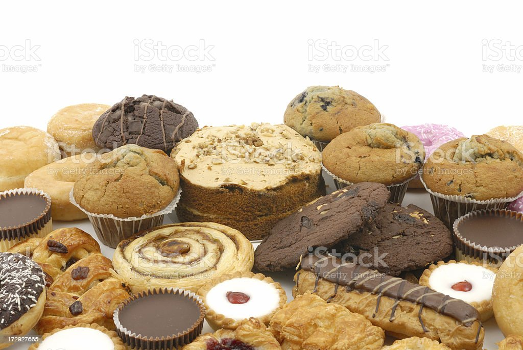 cakes and cookies stock photo
