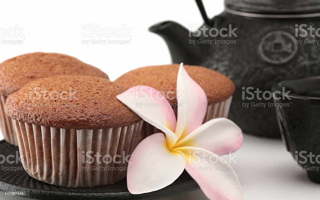 cakes and tea royalty-free stock photo