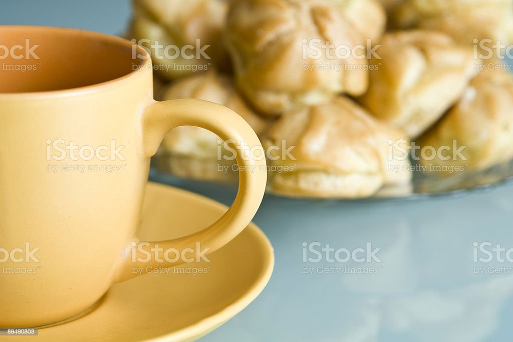 Cakes & cup royalty-free stock photo