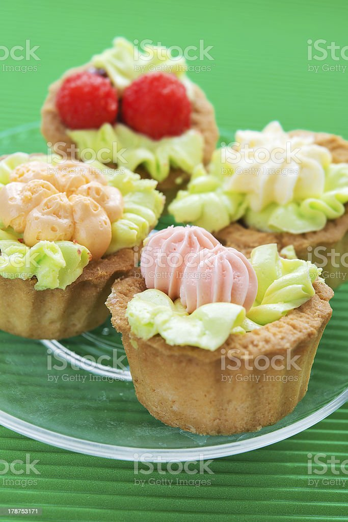Cakes decorated royalty-free stock photo