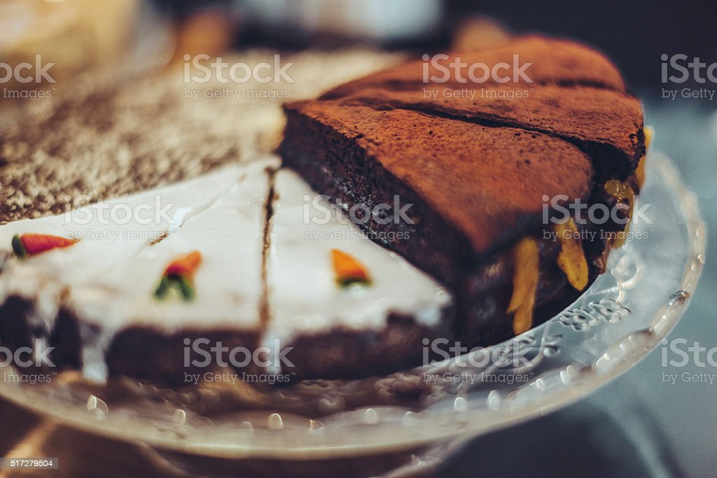 Cakes on a plate stock photo