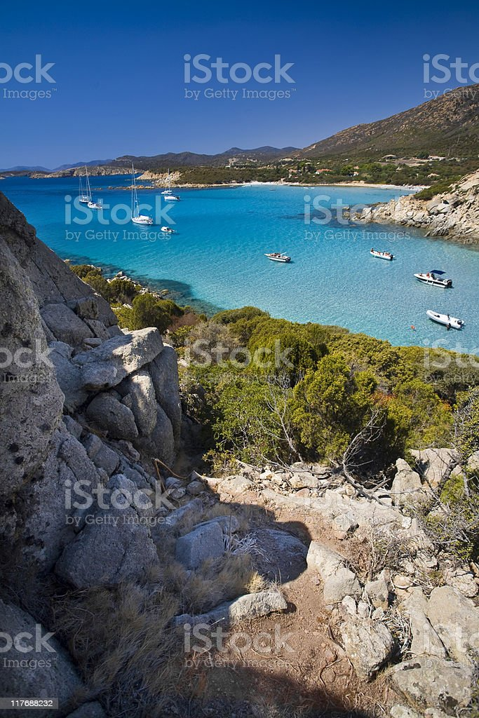 Cala Cipolla, Teulada stock photo