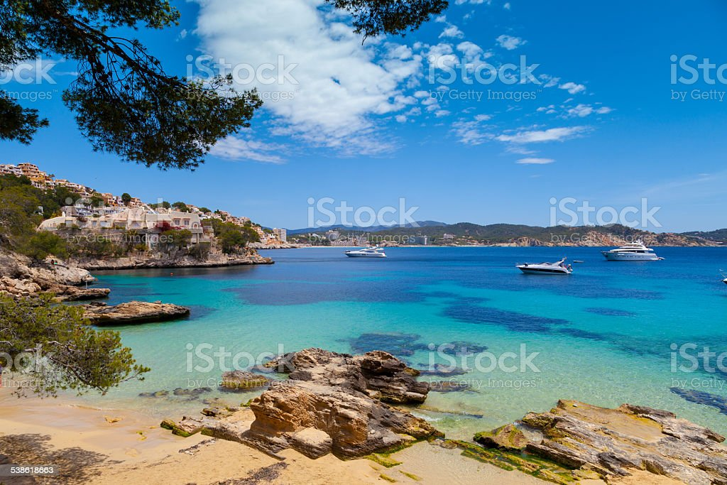 Cala Fornells View in Paguera, Majorca stock photo