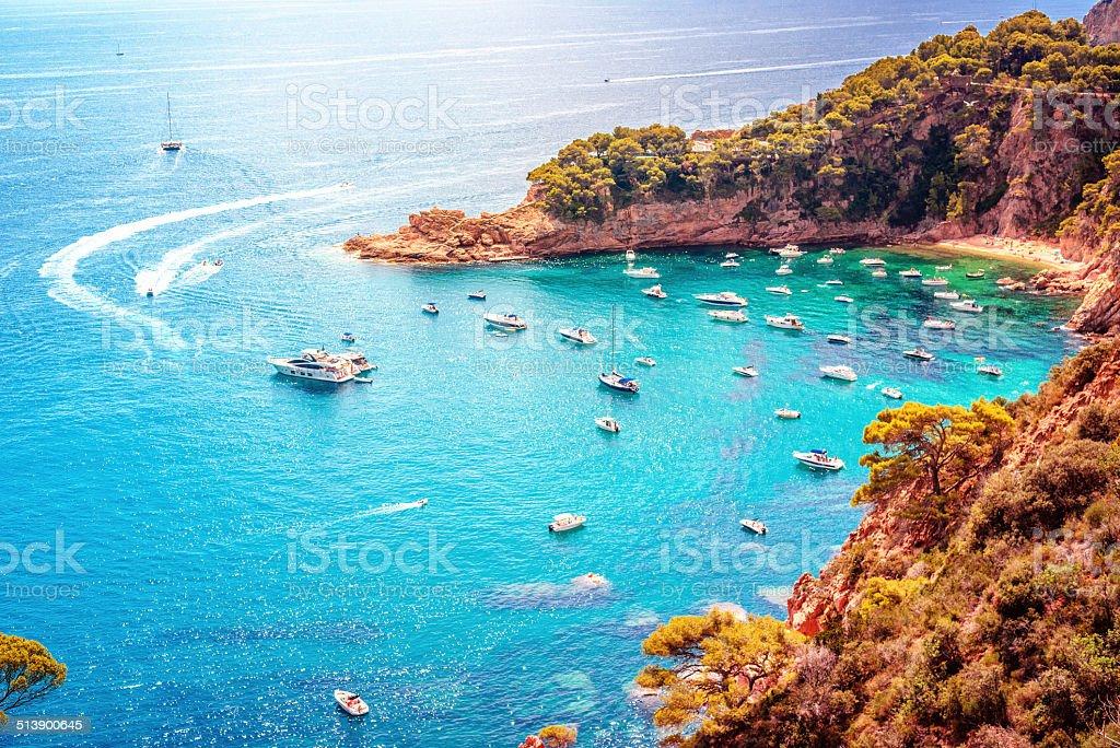 Cala Futadera - Tossa Del Mar, Costa Brava stock photo