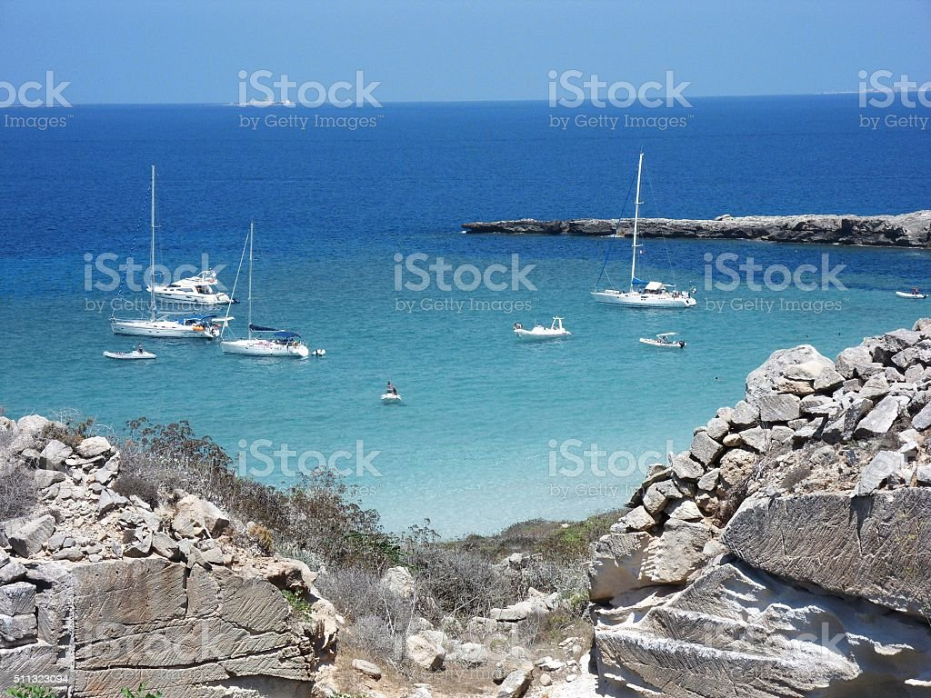 Cala Rossa a Favignana stock photo