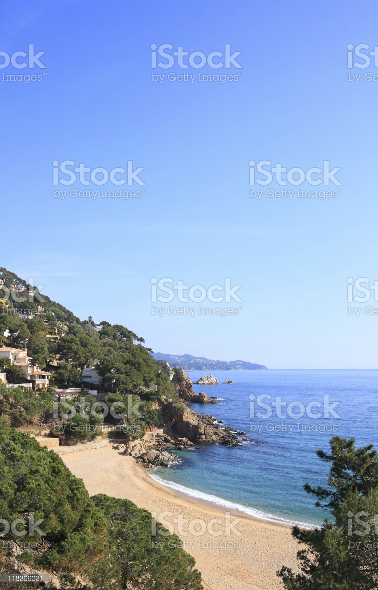 Cala Sant Francesc (Costa Brava, Spain) royalty-free stock photo