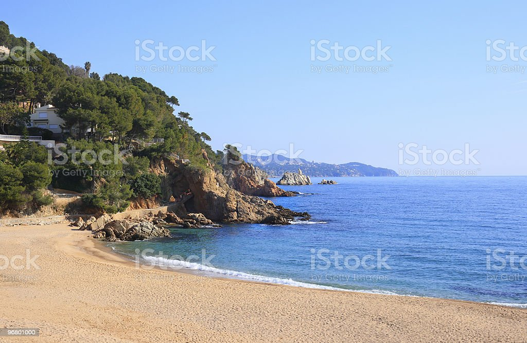 Cala Sant Francesc (Costa Brava, Spain) royalty-free stock photo