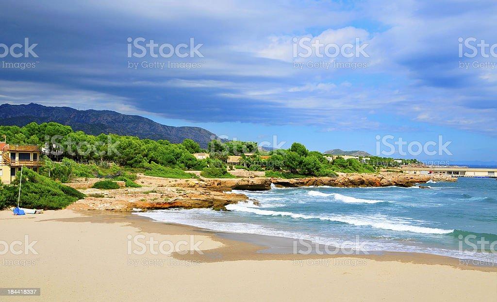 Cala  Sant Jordi in Ametlla de Mar, Spain stock photo