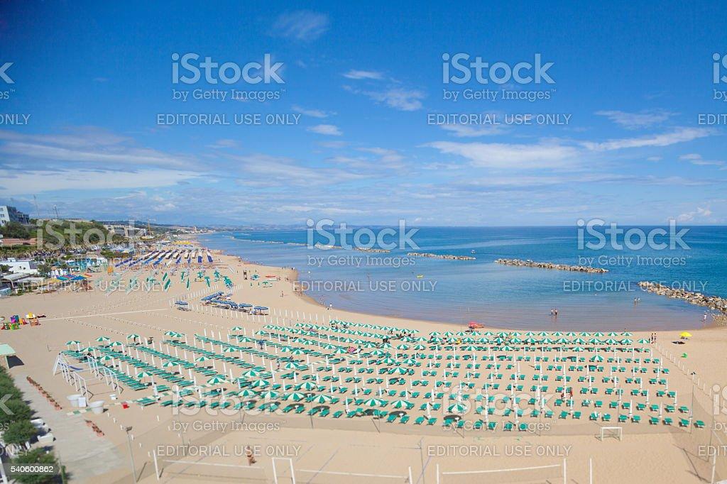 Cala Sveva beach in Termoli, Molise stock photo