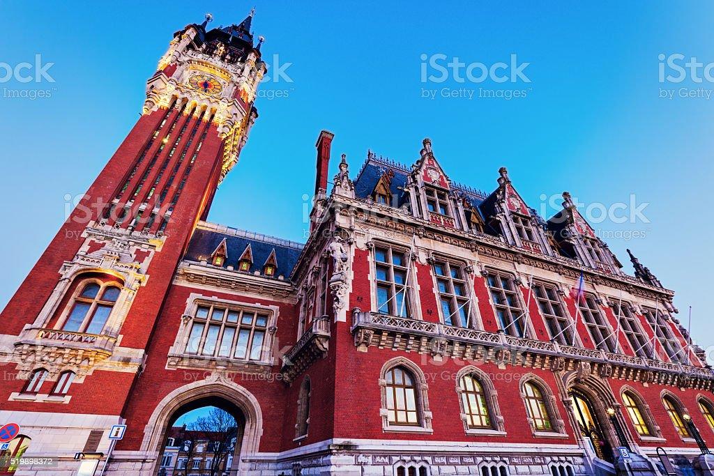 Calais city hall stock photo