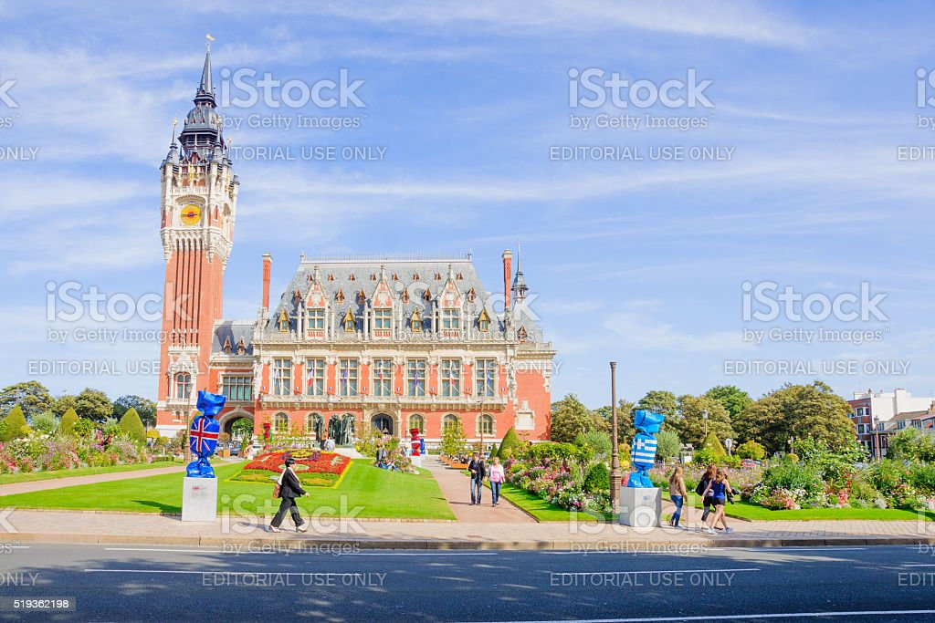 Calais Town Hall stock photo