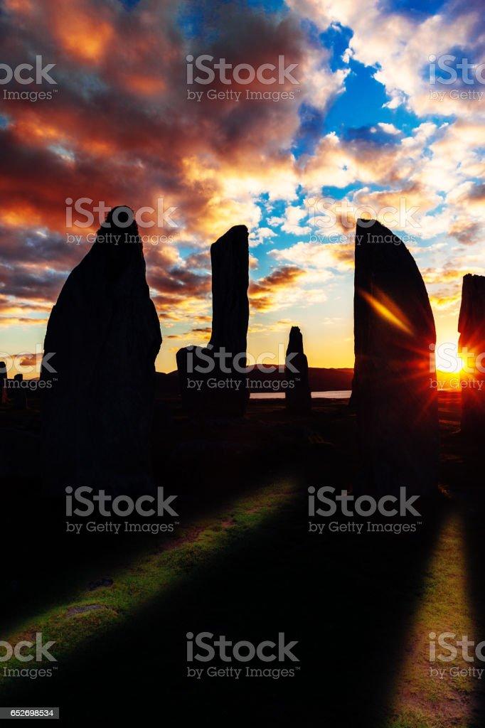 Calanais Ancient Standing Stones, Scotland stock photo