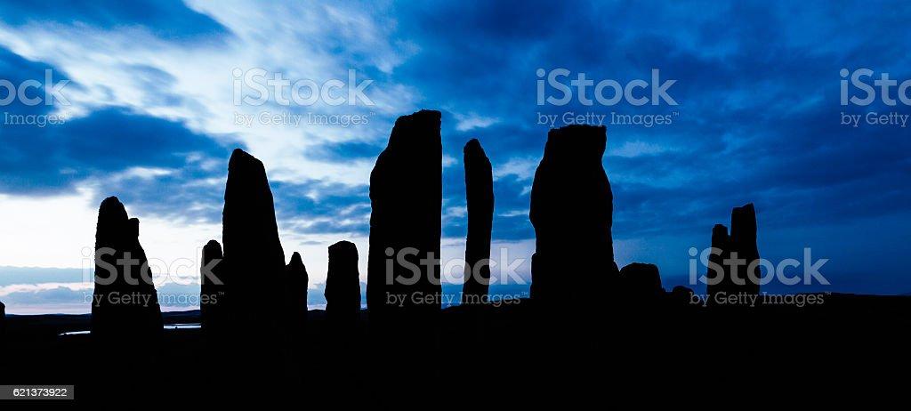 Calanais Standing Stones, Scotland stock photo