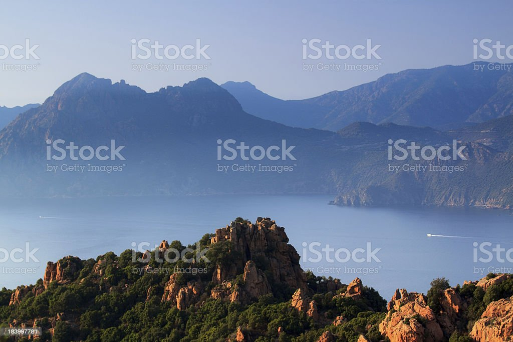 Calanches di Piana stock photo