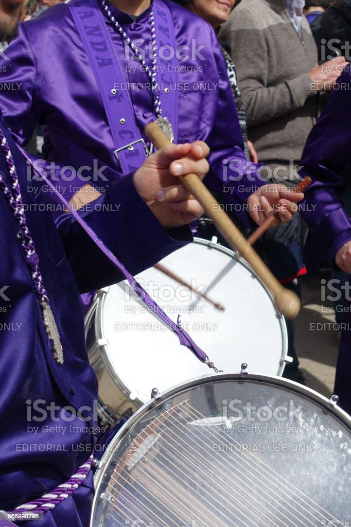 calanda aragon ruta del tambor procession semana santa easter drums spain stock photo