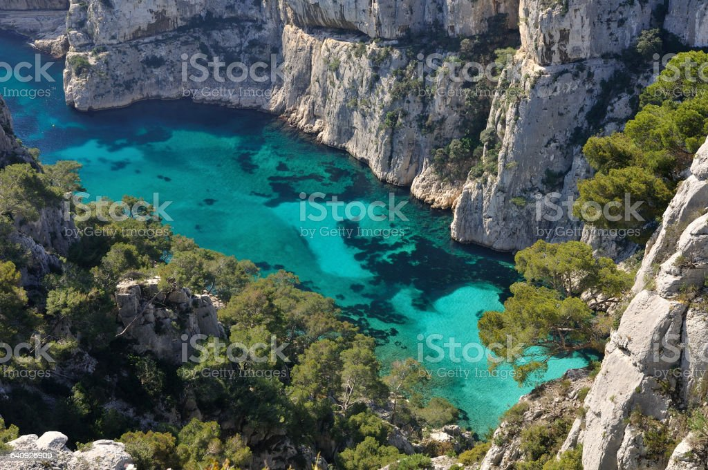 Calanque d'En-Vau stock photo